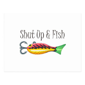 SHUT UP & FISH POSTCARD