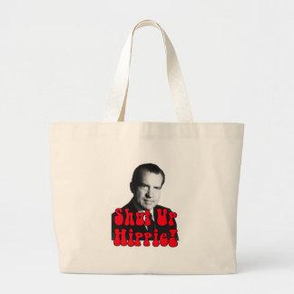 Shut Up Hippie -- Richard Nixon Large Tote Bag