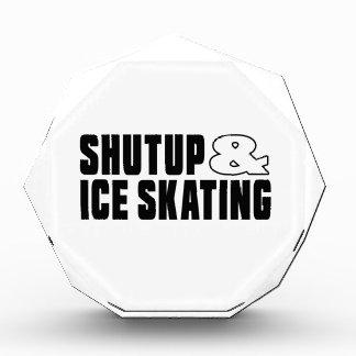 Shut up & ICE SKATING Acrylic Award