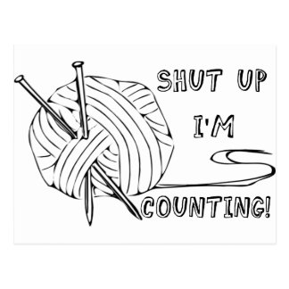 Shut Up I'm Counting Postcard