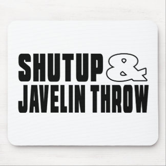 Shut up & JAVELIN THROW Mouse Pad