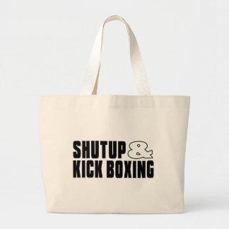 Shut up & KICK BOXING Jumbo Tote Bag