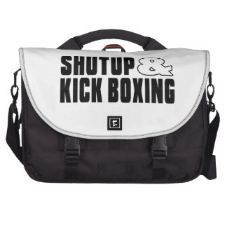 Shut up & KICK BOXING Laptop Messenger Bag