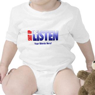 Shut Up & Listen Baby Bodysuits