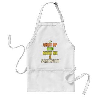 Shut up make me a sandwich aprons