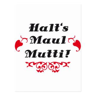 shut up mom/dad tarjetas postales