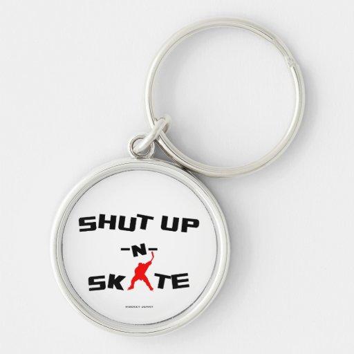 SHUT UP -N- SKATE KEYCHAINS