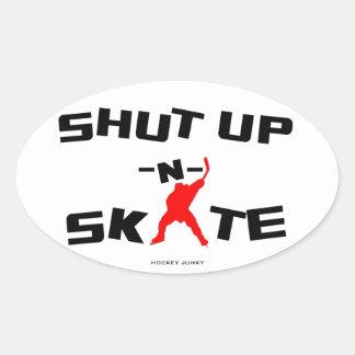 SHUT UP -N- SKATE OVAL STICKER