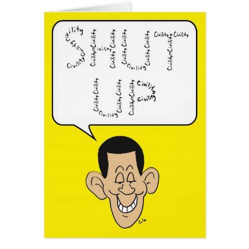 shut up obama civility greeting card