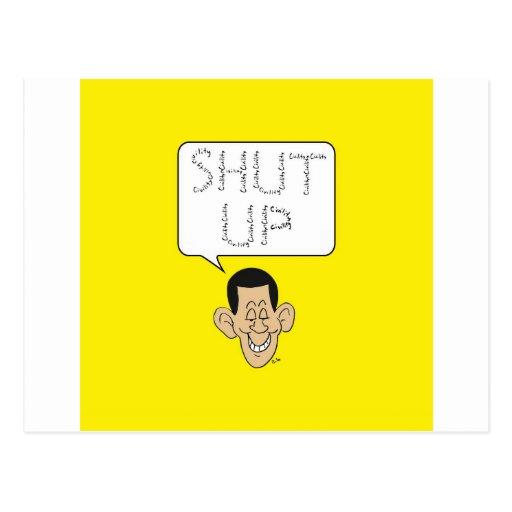 shut up obama civility postcard