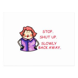 Shut Up Postcard