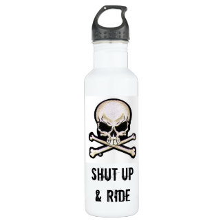 SHUT UP & RIDE STAINLESS STEEL WATER BOTTLE