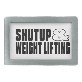 Shut up & WEIGHT LIFTING Belt Buckle