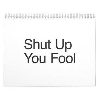 Shut Up You Fool.ai Calendar