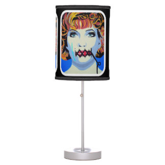 'Shut Up You're Beautiful' on a table lamp