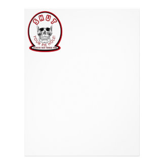 SHUT YOUR PIE HOLE:  SKULL LETTERHEAD