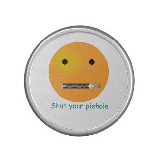 Shut Your Pie hole Smiley Face Bluetooth Speaker
