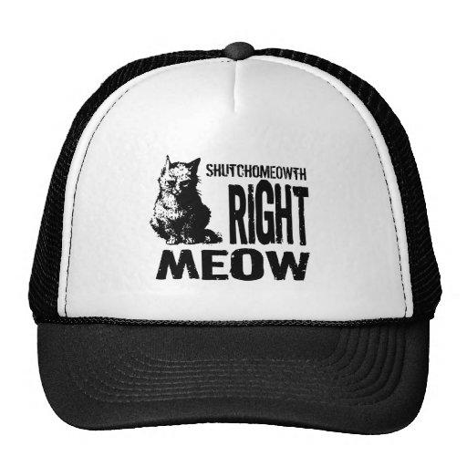 ShutchoMEOWTH Right MEOW! Funny Evil Kitty Trucker Hats