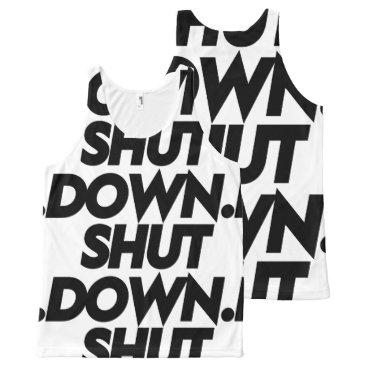 Beach Themed Shutdown Singlet All-Over-Print Tank Top