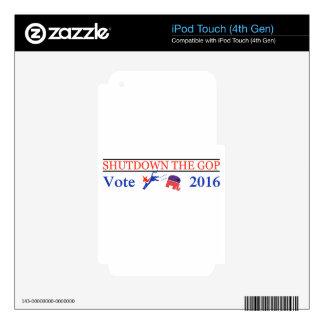 Shutdown The GOP - Vote 2016 - Democratic GOTV! Skin For iPod Touch 4G