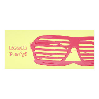 shutter glasses - beach party/ pool party invite