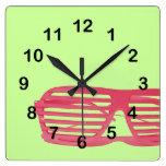 Shutter glasses wall clocks