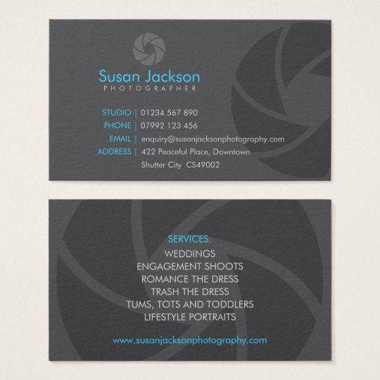 Shutter Logo Photography Business Card