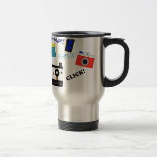 Shutterbug en el entrenamiento tazas de café