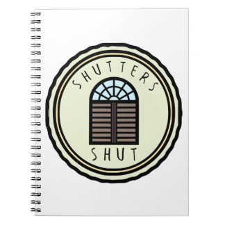 Shutters Shut Notebook