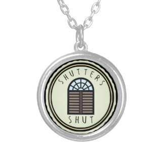 Shutters Shut! Silver Plated Necklace