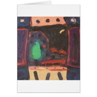 Shutters Thrown Open To The Night Sky Greeting Card