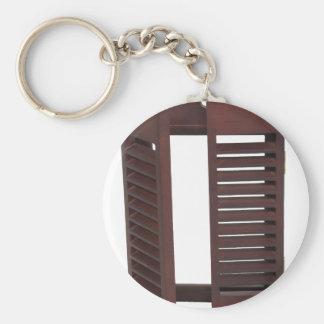 ShuttersDarkClosed060709 Basic Round Button Keychain