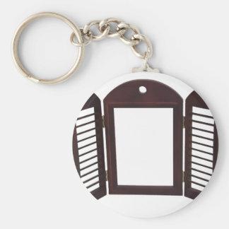 ShuttersDarkOpen060709 Basic Round Button Keychain