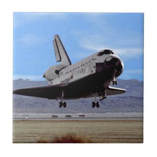 Shuttle Atlantis Landing at Edwards Ceramic Tile