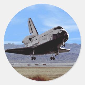 Shuttle Atlantis Landing at Edwards Classic Round Sticker