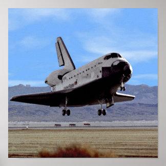Shuttle Atlantis Landing at Edwards Poster