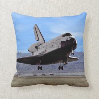 Shuttle Atlantis Landing at Edwards Throw Pillow