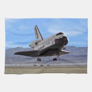 Shuttle Atlantis Landing at Edwards Towel
