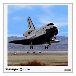 Shuttle Atlantis Landing at Edwards Wall Decal