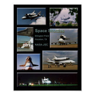 Shuttle collage poster