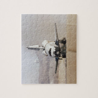 Shuttle Columbia Touches Down on lakebed at Edward Jigsaw Puzzle