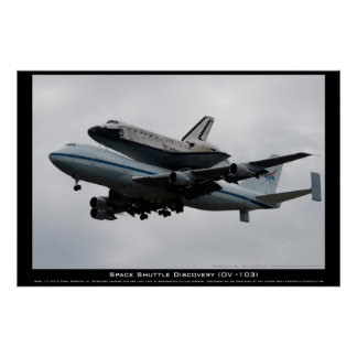 Shuttle Discovery final approach Poster