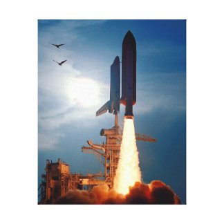 Shuttle Discovery Launch STS-64 Canvas Print