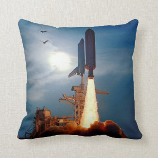 Shuttle Discovery Launch STS-64 Throw Pillows