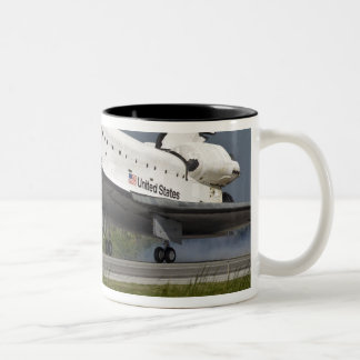 Shuttle Endeavour landing Kennedy Space Center Two-Tone Coffee Mug