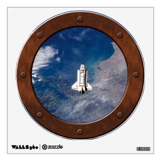Shuttle Endeavour STS-113 Steampunk Window Room Decal