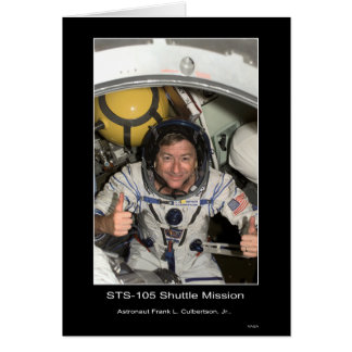 Shuttle Mission STS 105 Card