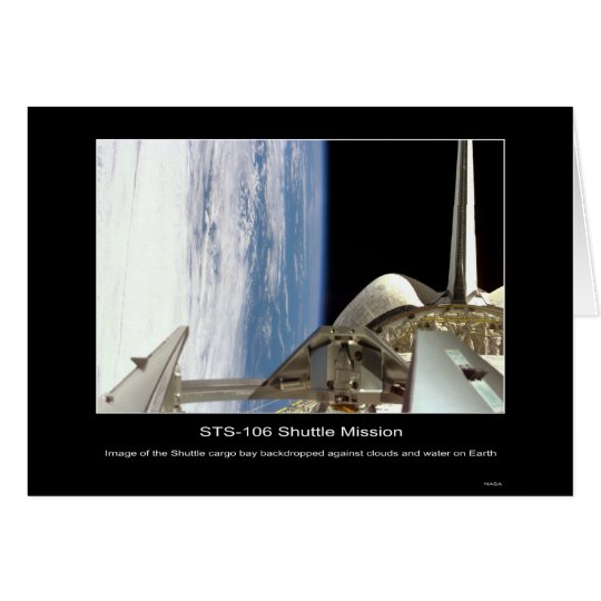 Shuttle Mission STS 106 Card