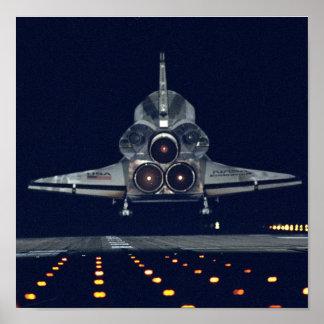 Shuttle Night Landing Poster