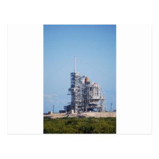 Shuttle on Launch Pad Postcard